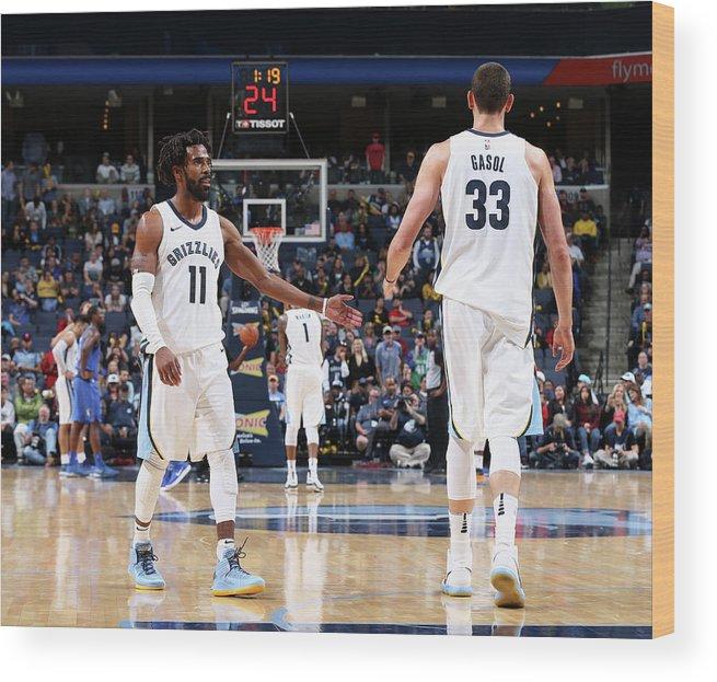 Nba Pro Basketball Wood Print featuring the photograph Mike Conley by Joe Murphy
