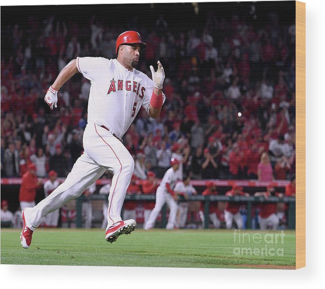 Second Inning Wood Print featuring the photograph Albert Pujols by Harry How