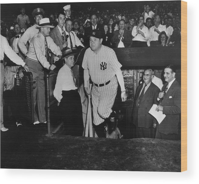 Crowd Wood Print featuring the photograph Babe Ruth by American Stock Archive