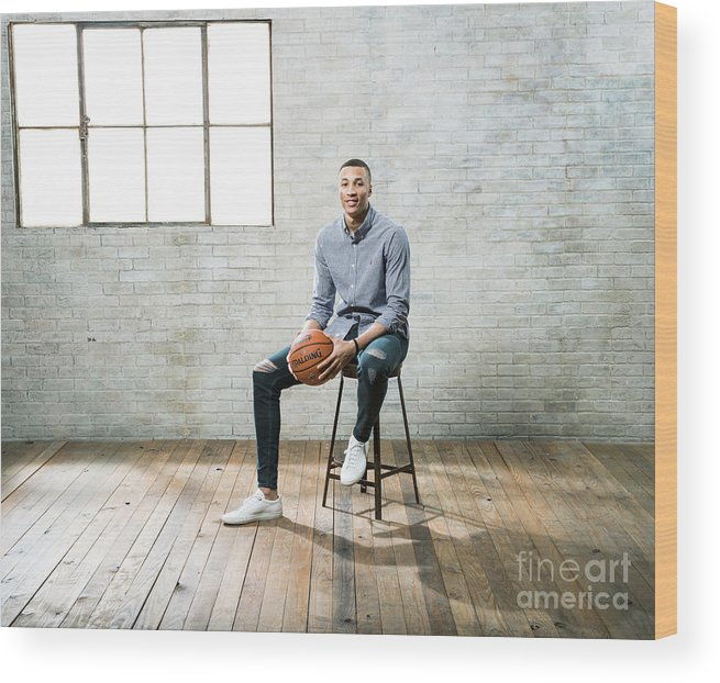 Nba Pro Basketball Wood Print featuring the photograph Dante Exum by Nathaniel S. Butler