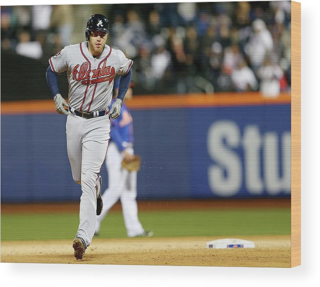Residential District Wood Print featuring the photograph Freddie Freeman by Elsa
