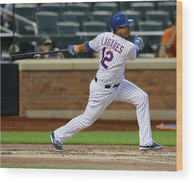 Second Inning Wood Print featuring the photograph Juan Lagares by Elsa