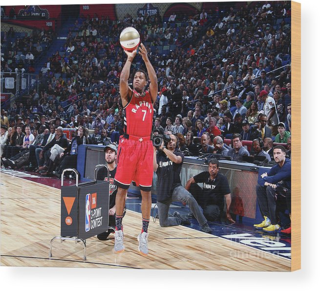 Event Wood Print featuring the photograph Kyle Lowry by Nathaniel S. Butler