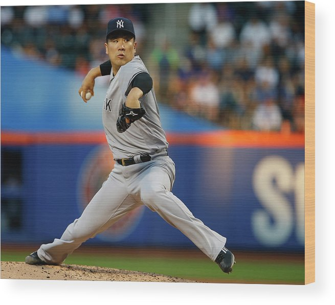 Second Inning Wood Print featuring the photograph Masahiro Tanaka by Rich Schultz