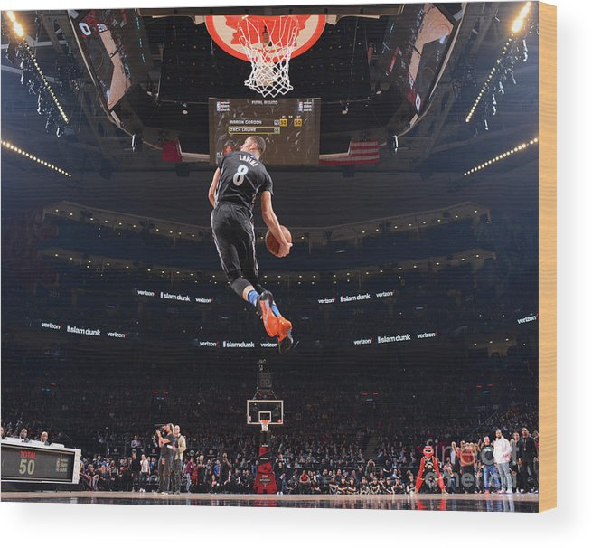 Event Wood Print featuring the photograph Zach Lavine by Jesse D. Garrabrant