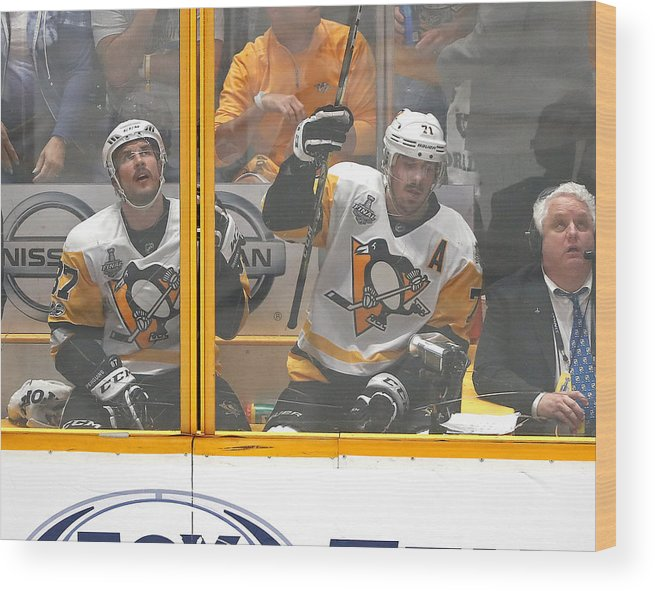 Playoffs Wood Print featuring the photograph 2017 NHL Stanley Cup Final - Game Three by Justin K. Aller