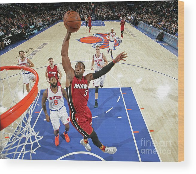Nba Pro Basketball Wood Print featuring the photograph Dwyane Wade by Nathaniel S. Butler