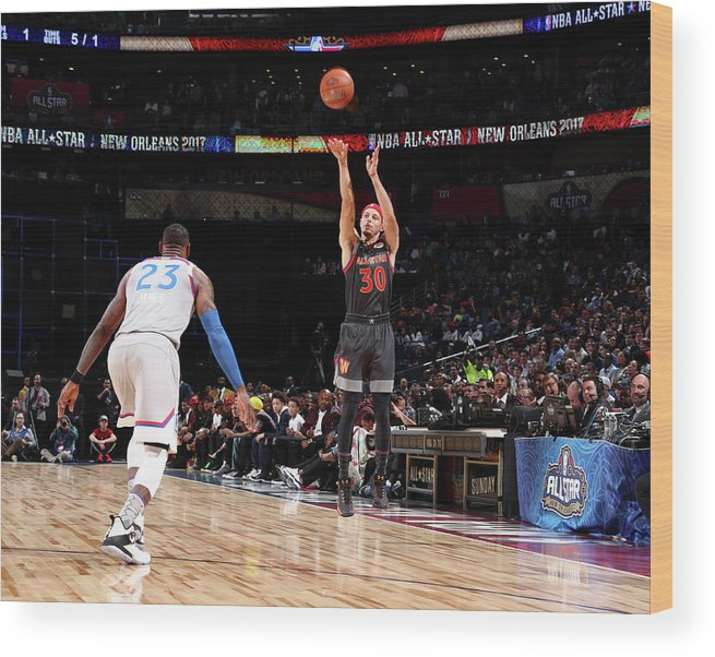 Event Wood Print featuring the photograph Stephen Curry by Nathaniel S. Butler