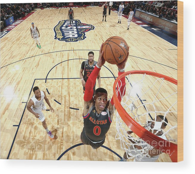Event Wood Print featuring the photograph Russell Westbrook by Nathaniel S. Butler