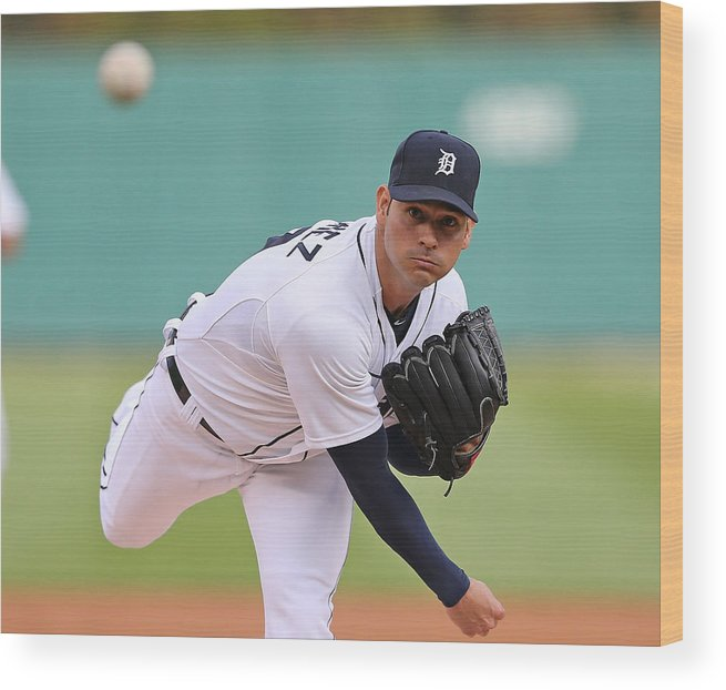 American League Baseball Wood Print featuring the photograph Anibal Sanchez by Leon Halip