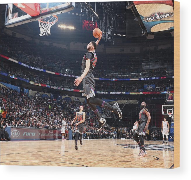 Event Wood Print featuring the photograph Anthony Davis by Nathaniel S. Butler