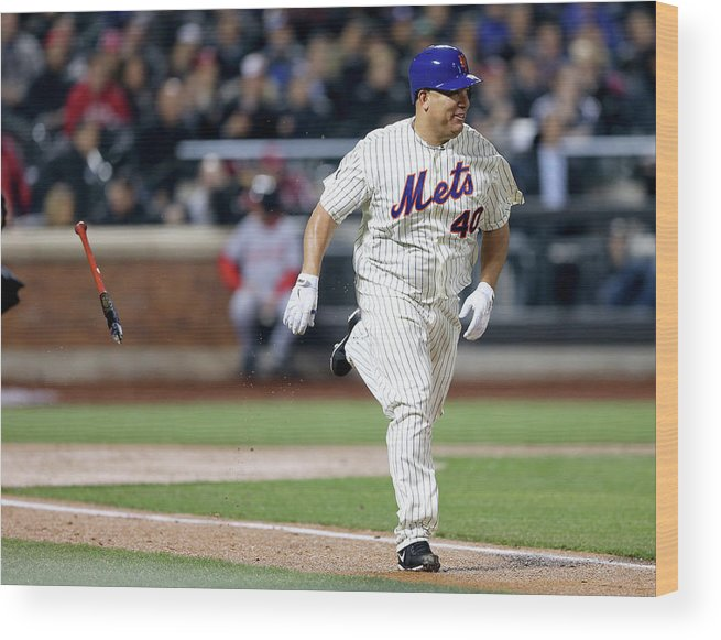 People Wood Print featuring the photograph Bartolo Colon by Elsa