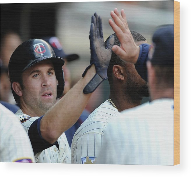 American League Baseball Wood Print featuring the photograph Brian Dozier by Hannah Foslien