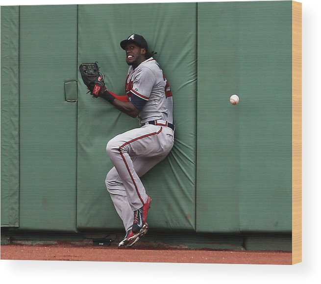 People Wood Print featuring the photograph Cameron Maybin and Mookie Betts by Jim Rogash