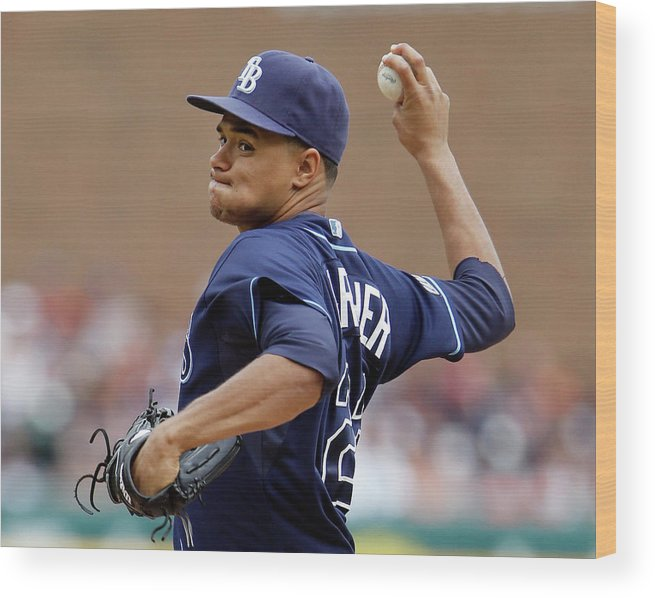 American League Baseball Wood Print featuring the photograph Chris Ray by Duane Burleson