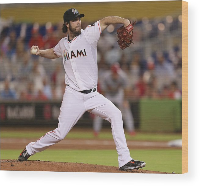 People Wood Print featuring the photograph Dan Haren by Rob Foldy
