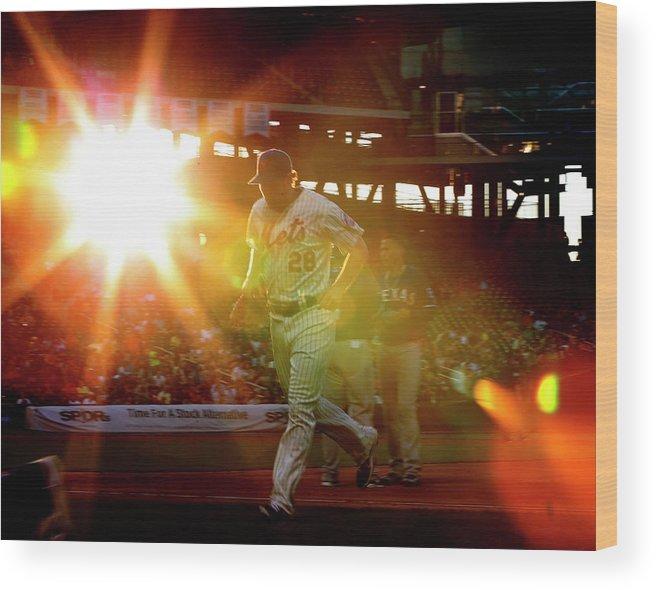 American League Baseball Wood Print featuring the photograph Daniel Murphy by Rich Schultz