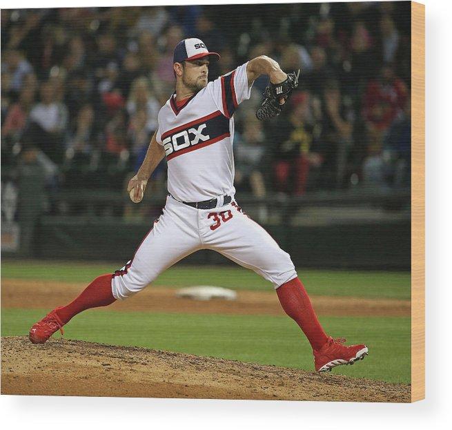 American League Baseball Wood Print featuring the photograph David Robertson by Jonathan Daniel