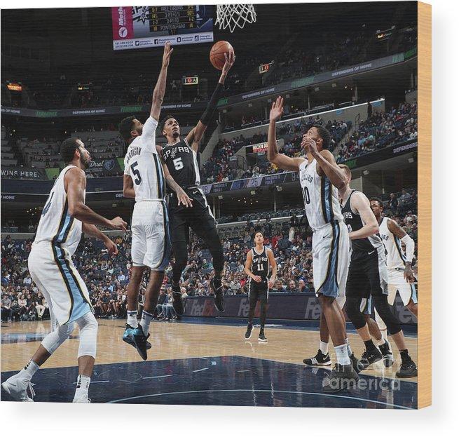 Nba Pro Basketball Wood Print featuring the photograph Dejounte Murray by Joe Murphy