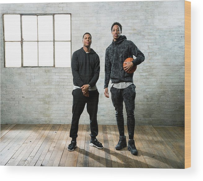 Nba Pro Basketball Wood Print featuring the photograph Demar Derozan and Kyle Lowry by Nathaniel S. Butler