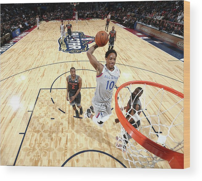 Event Wood Print featuring the photograph Demar Derozan by Nathaniel S. Butler