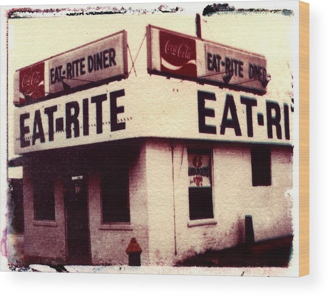 Polaroid Transfer Wood Print featuring the photograph Eat Rite by Jane Linders
