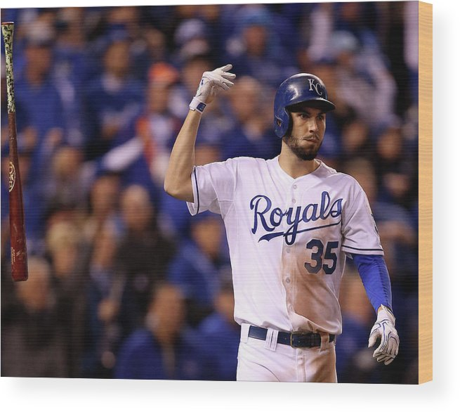 People Wood Print featuring the photograph Eric Hosmer by Doug Pensinger