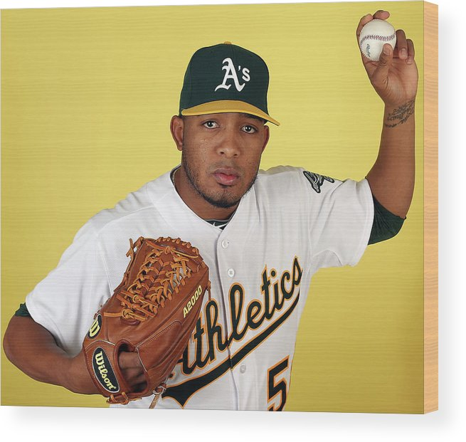 Media Day Wood Print featuring the photograph Fernando Abad by Christian Petersen