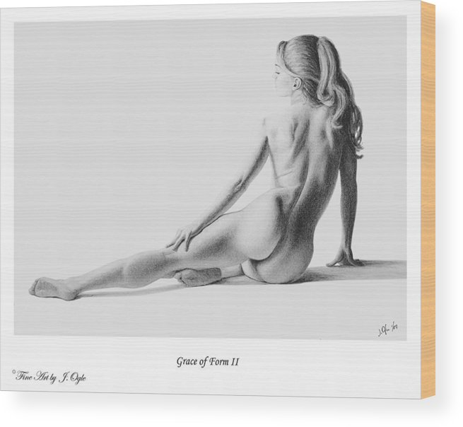 Pastel Wood Print featuring the painting Grace Of Form 2  print only by Joseph Ogle