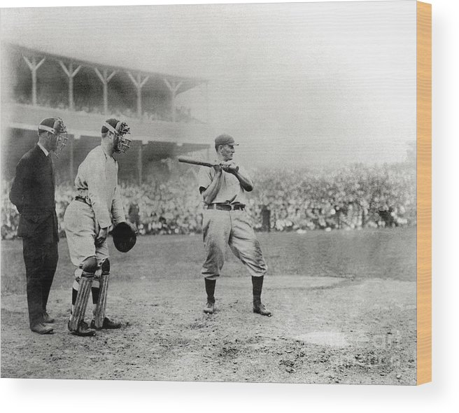 Home Base Wood Print featuring the photograph Honus Wagner by National Baseball Hall Of Fame Library