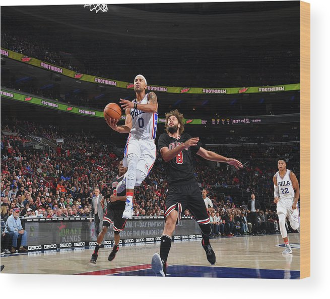Nba Pro Basketball Wood Print featuring the photograph Jerryd Bayless by Jesse D. Garrabrant