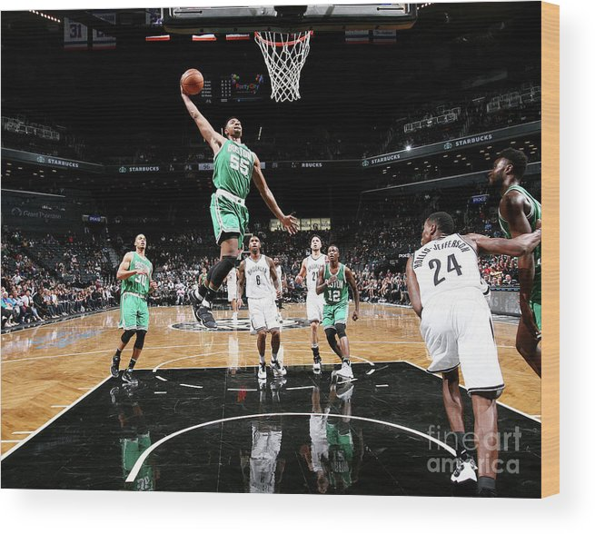 Nba Pro Basketball Wood Print featuring the photograph Jordan Mickey by Nathaniel S. Butler