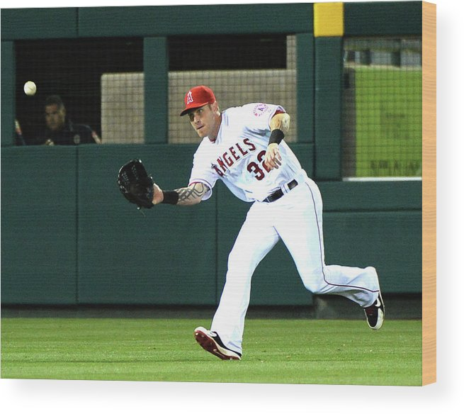 American League Baseball Wood Print featuring the photograph Josh Hamilton and Dustin Ackley by Harry How