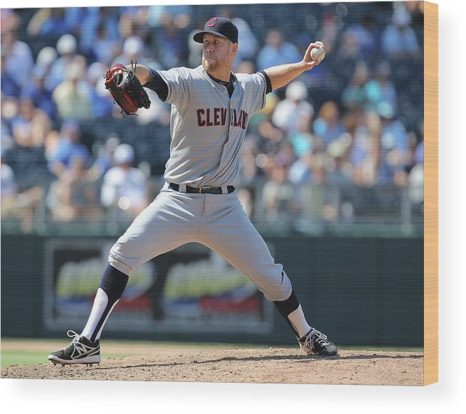 American League Baseball Wood Print featuring the photograph Josh Outman by Ed Zurga