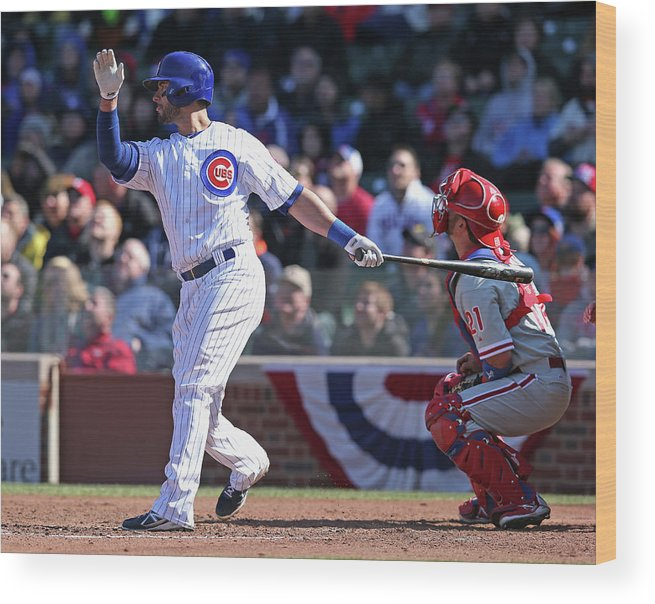 National League Baseball Wood Print featuring the photograph Justin Ruggiano by Jonathan Daniel