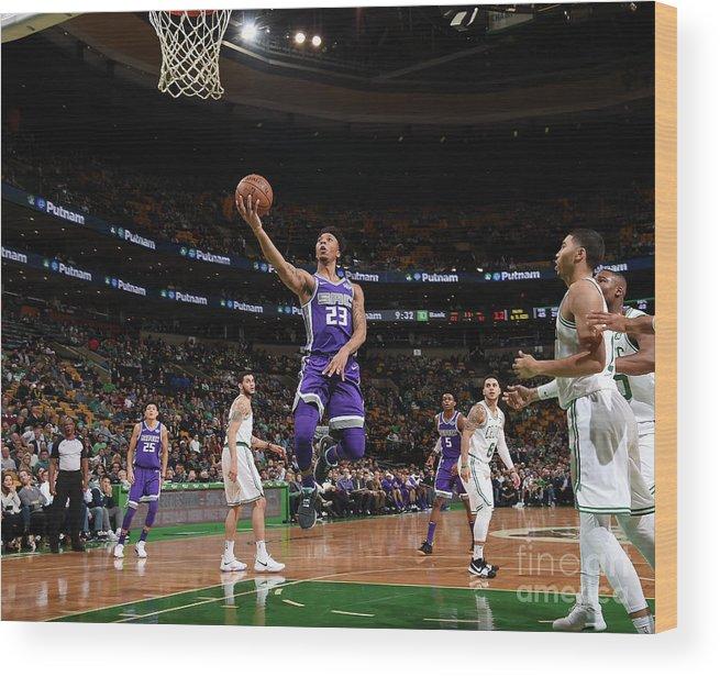 Nba Pro Basketball Wood Print featuring the photograph Malachi Richardson by Brian Babineau