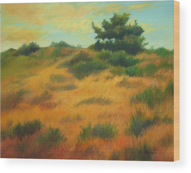 Cape Cod Scene Wood Print featuring the painting Province Lands Cape Cod by Phyllis Tarlow