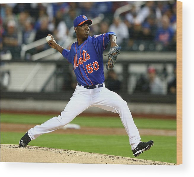Second Inning Wood Print featuring the photograph Rafael Montero by Elsa