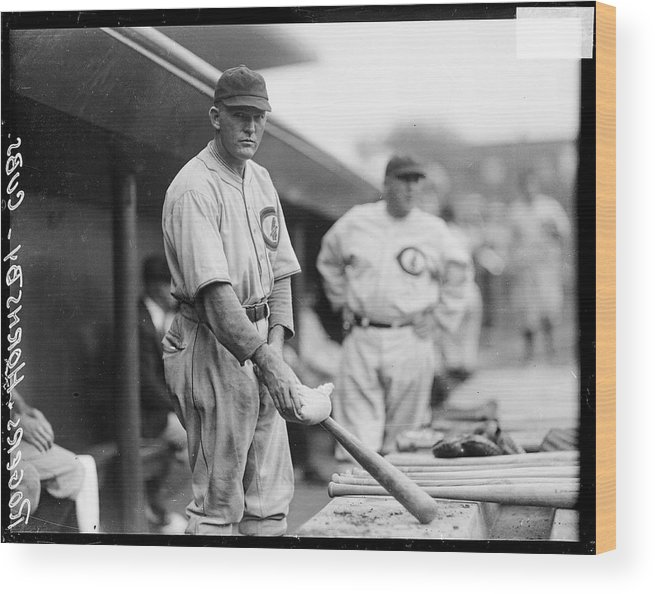People Wood Print featuring the photograph Rogers Hornsby by Chicago History Museum