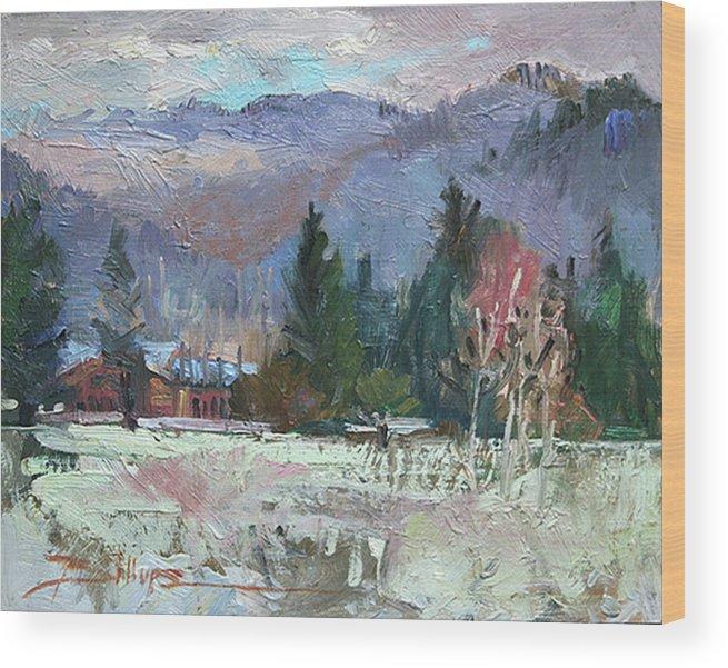 Plein Air Snow Scene Wood Print featuring the photograph Rough Winter by Betty Jean Billups