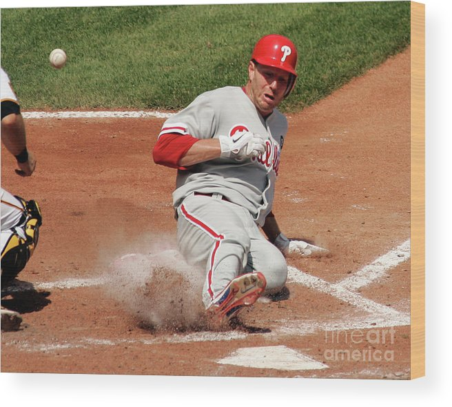 People Wood Print featuring the photograph Roy Halladay by Justin K. Aller