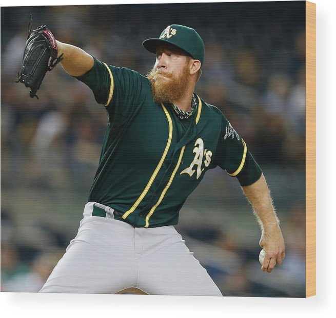 Ninth Inning Wood Print featuring the photograph Sean Doolittle by Rich Schultz