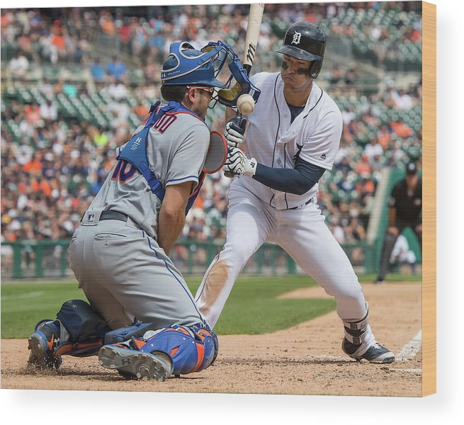 Baseball Catcher Wood Print featuring the photograph Travis D'arnaud by Dave Reginek