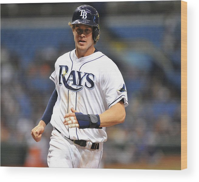 American League Baseball Wood Print featuring the photograph Wil Myers by Al Messerschmidt