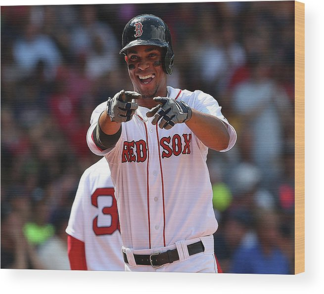 People Wood Print featuring the photograph Xander Bogaerts by Jim Rogash