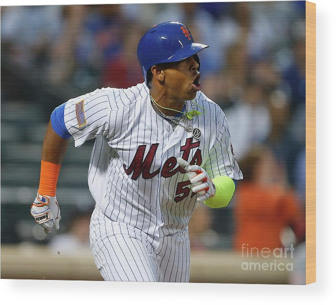 Yoenis Cespedes Wood Print featuring the photograph Yoenis Cespedes by Rich Schultz