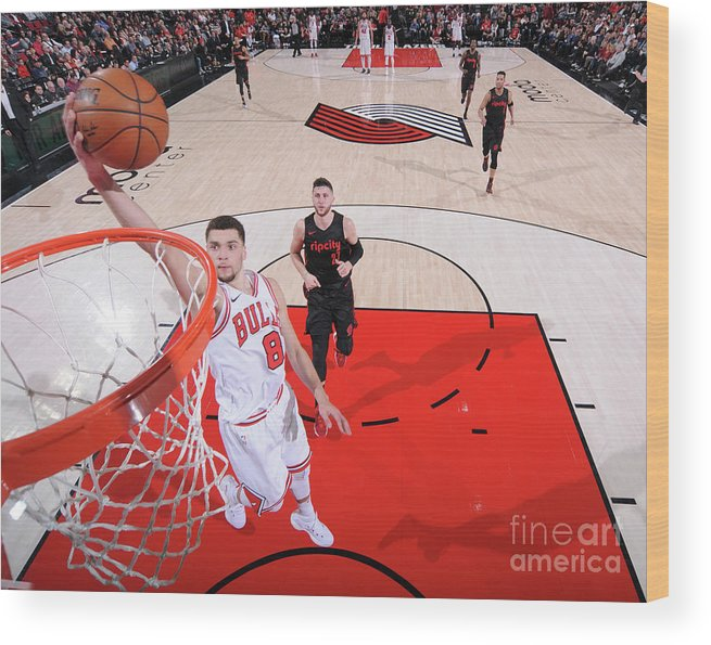 Chicago Bulls Wood Print featuring the photograph Zach Lavine by Sam Forencich