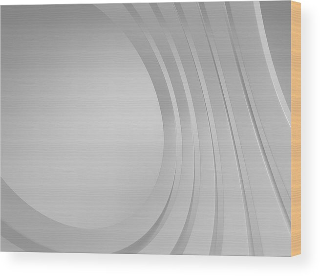 Arch Wood Print featuring the photograph 3d Blank Abstract Architecture by Me4o