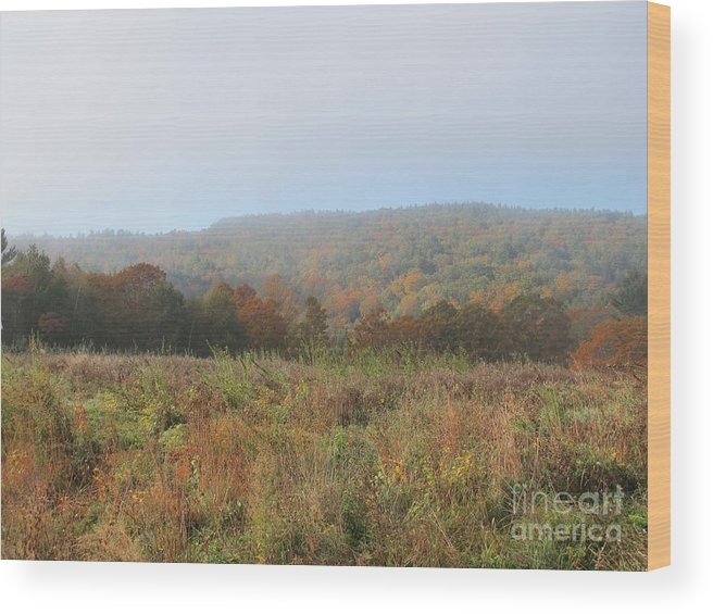 Autumn Wood Print featuring the photograph Autumn Pasture by Linda Marcille