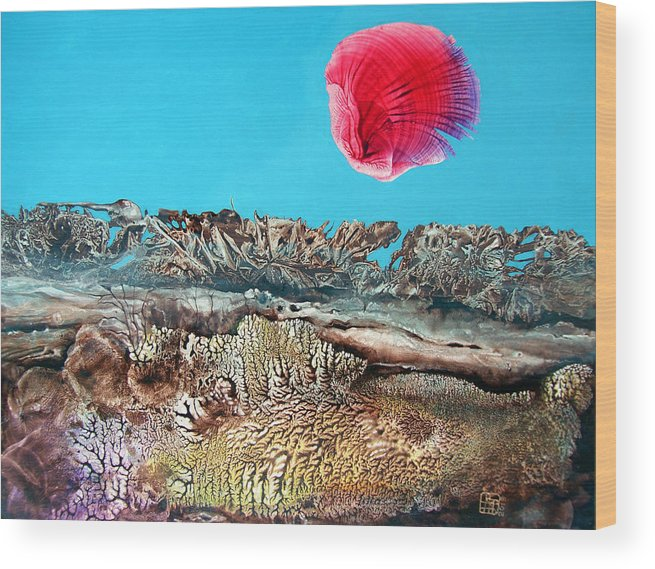 Decalcomania Wood Print featuring the painting Bogomil Sunrise 2 by Otto Rapp
